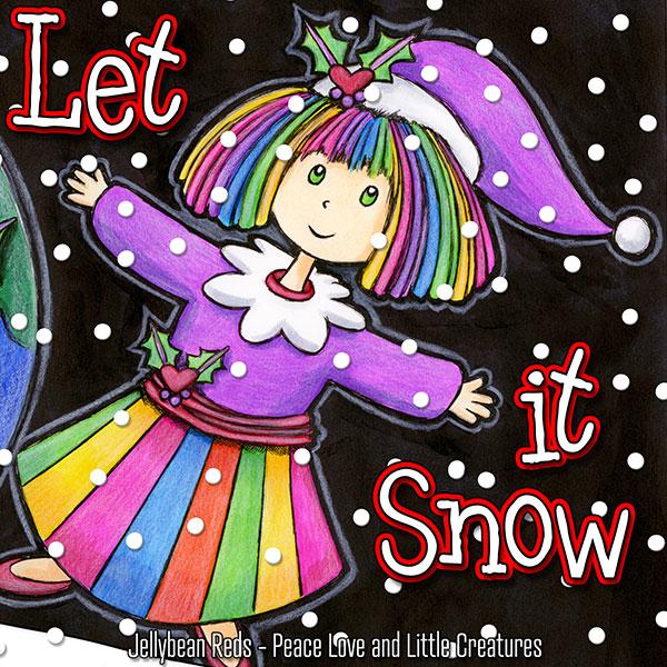 Let it Snow - Festive Jellybean