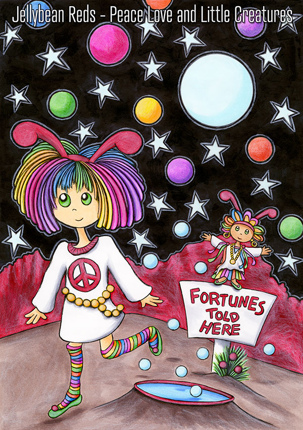 Jellybean and Gypsy Girl Fortune Teller - Fortunes Told Here