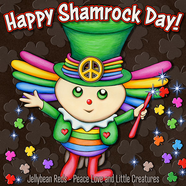 Shamrock Bing conjuring the Rainbow Shamrocks that will take him back home. Happy Shamrock Day!