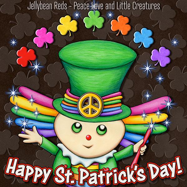 Shamrock Bing with Shamrock Rainbow - Happy Saint Patrick's Day!