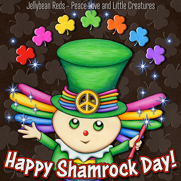 Shamrock Bing with Shamrock Rainbow - Happy Shamrock Day!