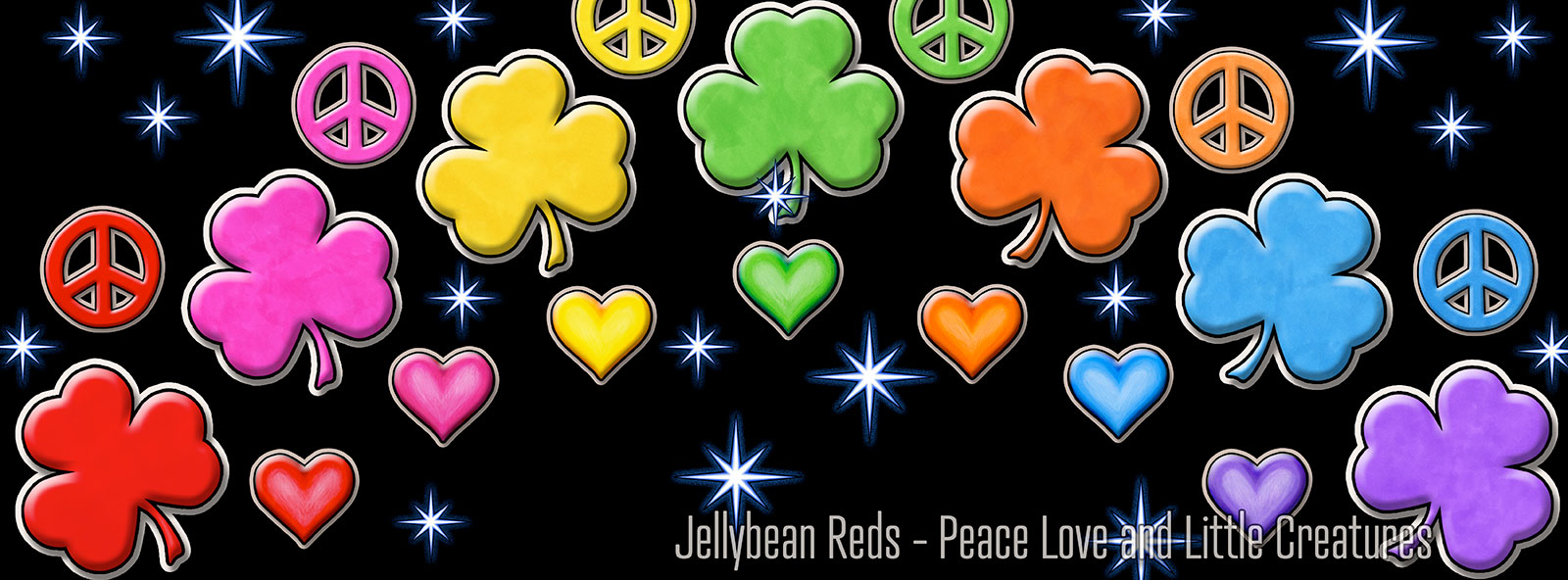 Shamrocks, Hearts and Peace Signs Rainbow