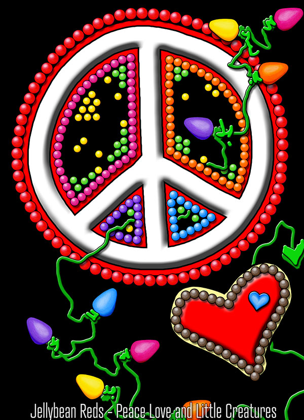 Peace Lights Love - Peace Sign with Heart