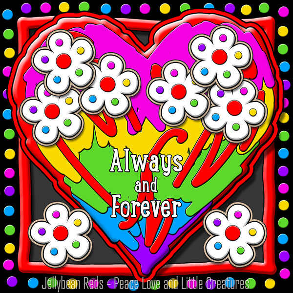 Hard Candy Heart with Flowers - Always and Forever