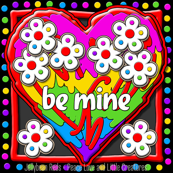 Hard Candy Heart with Flowers - Be Mine