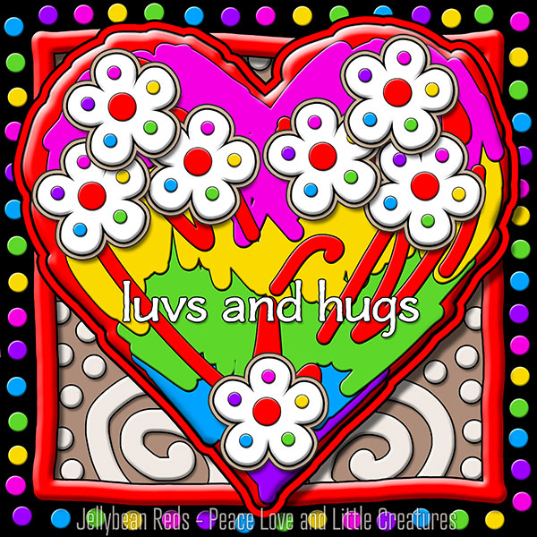 Hard Candy Heart with Flowers - Luvs and Hugs