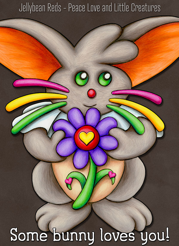 Bunny with Flower - Some Bunny Loves You!