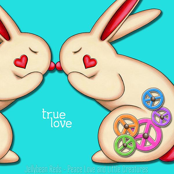 True Love - Clockwork Rabbits on Aqua