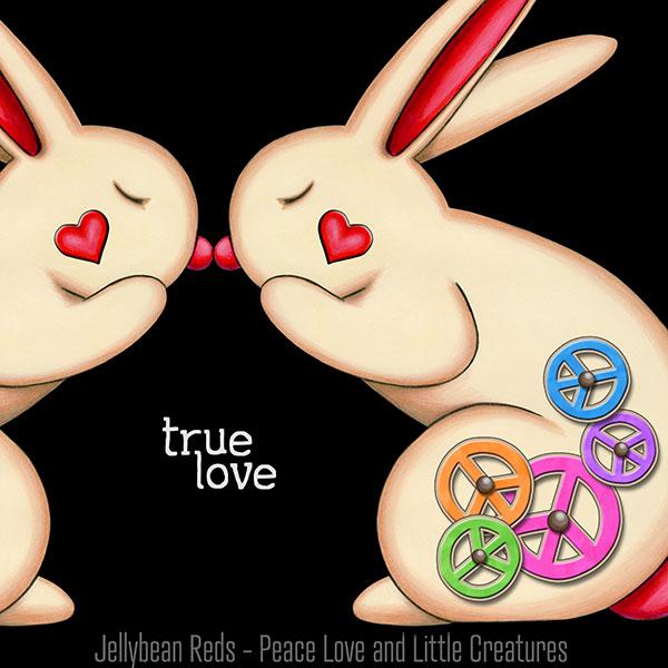 True Love - Clockwork Rabbits on Black