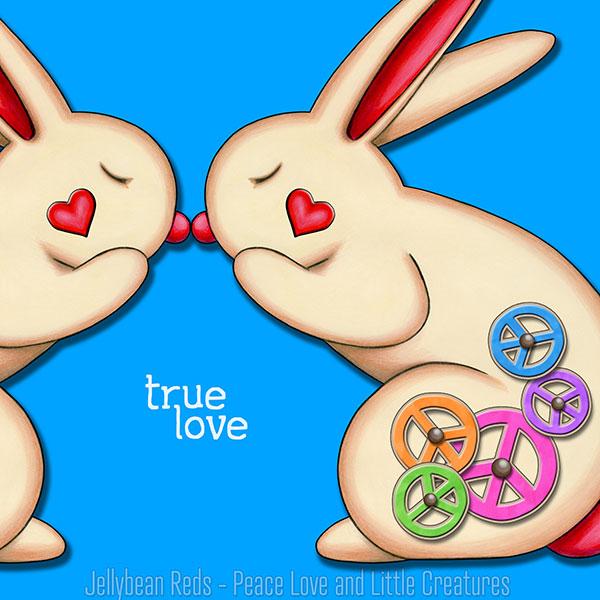True Love - Clockwork Rabbits on Blue