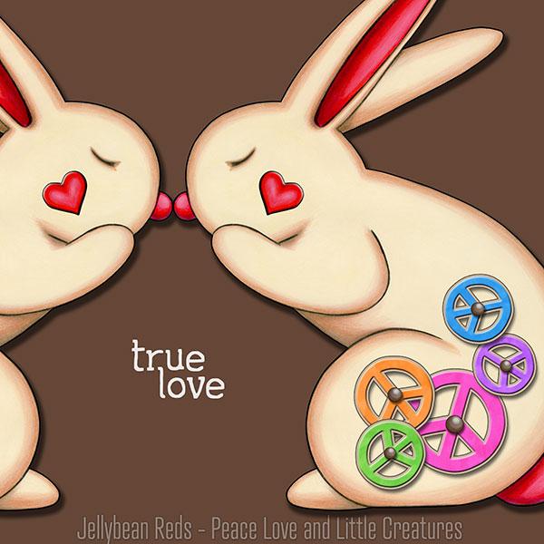 True Love - Clockwork Rabbits on Brown