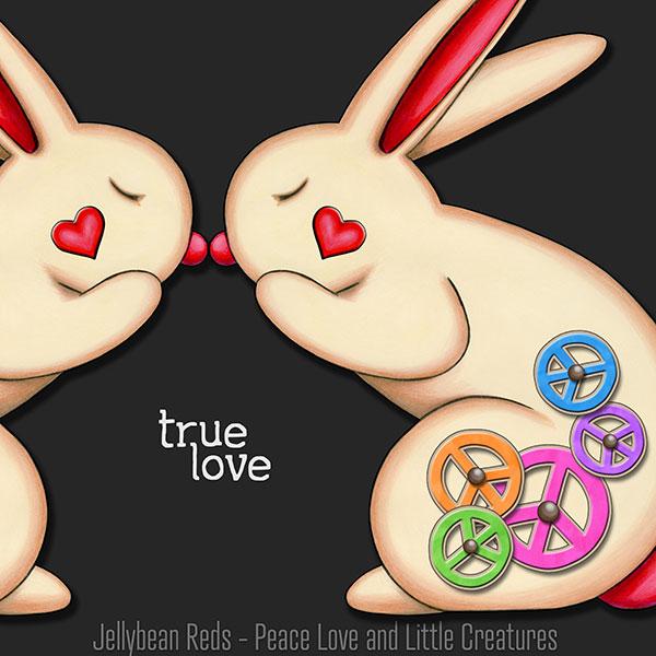 True Love - Clockwork Rabbits on Gray