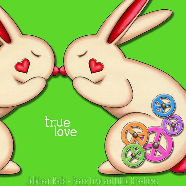 True Love - Clockwork Rabbits on Green