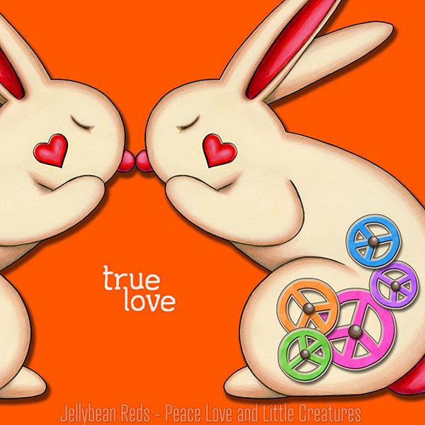 True Love - Clockwork Rabbits on Orange