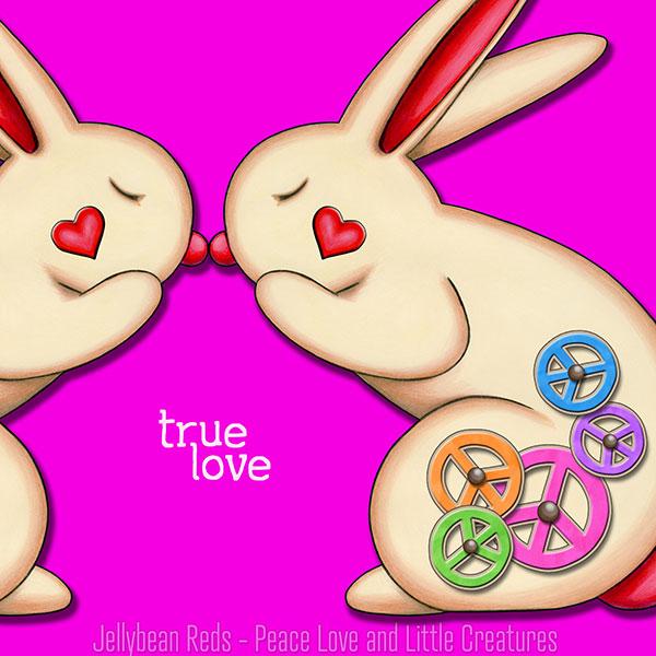True Love - Clockwork Rabbits on Pink