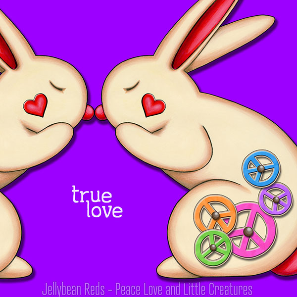 True Love - Clockwork Rabbits on Violet