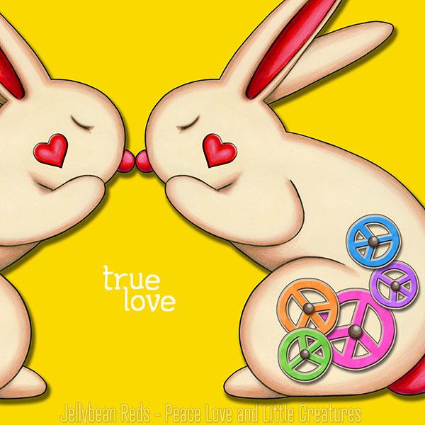 True Love - Clockwork Rabbits on Yellow