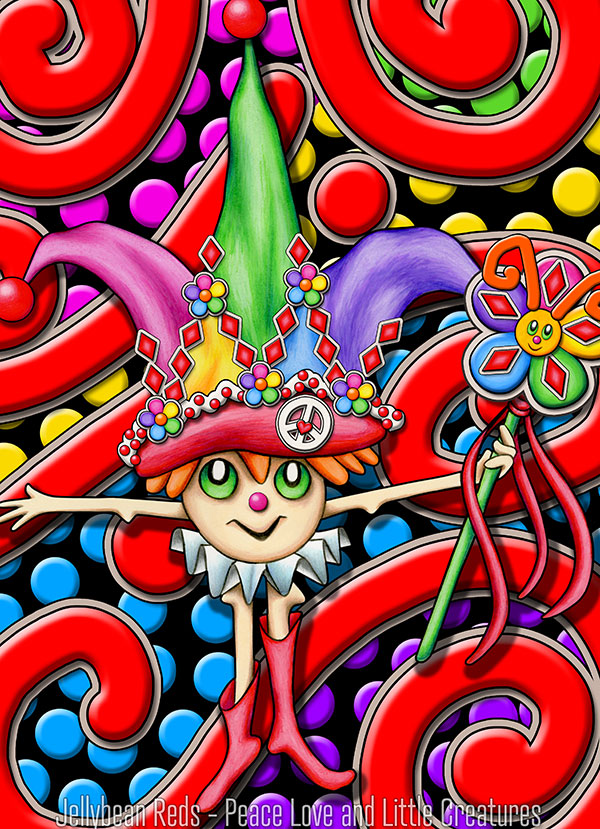 Jester with Wand - Carnival Style