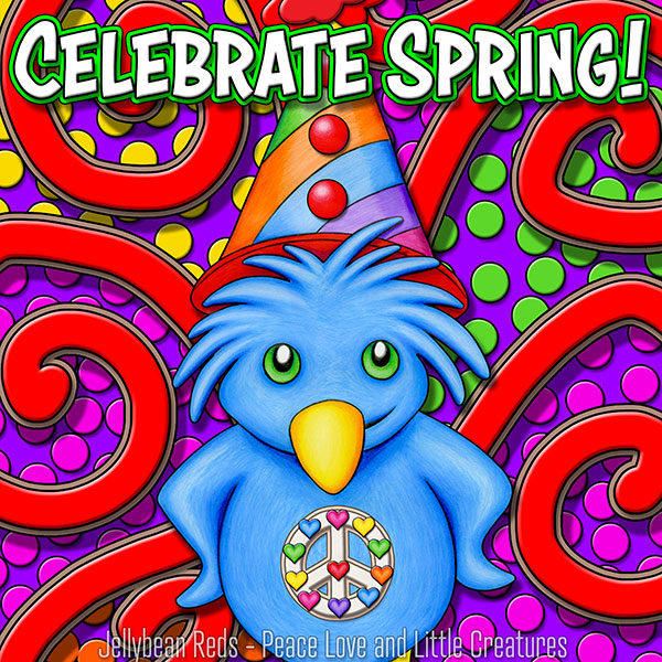 Celebrate Spring - Party Bird - Carnival Style