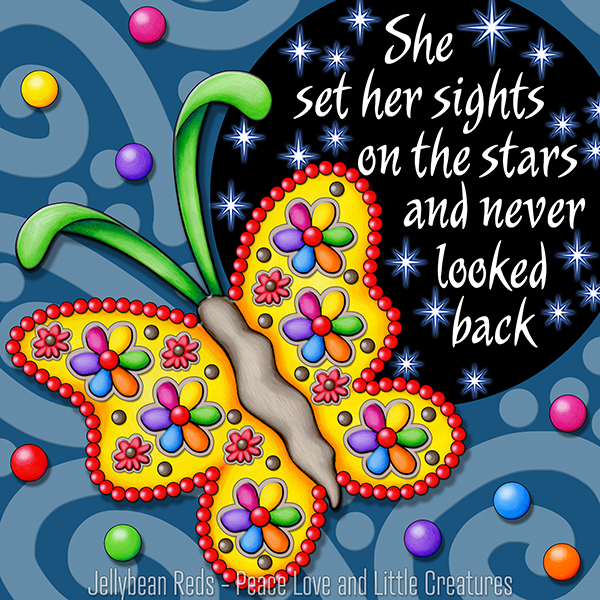 Never Look Back - Gypsy Butterfly and Starry Spotlight