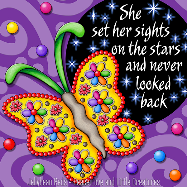 Never Look Back - Gypsy Butterfly and Starry Spotlight
