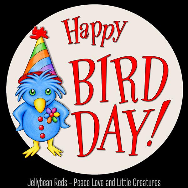 Happy Bird Day - Bird Wearing Party Hat