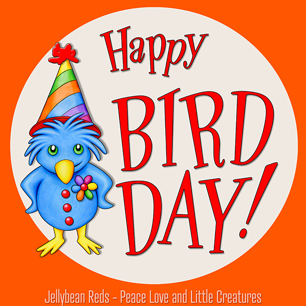 Happy Bird Day - Bird Wearing Party Hat