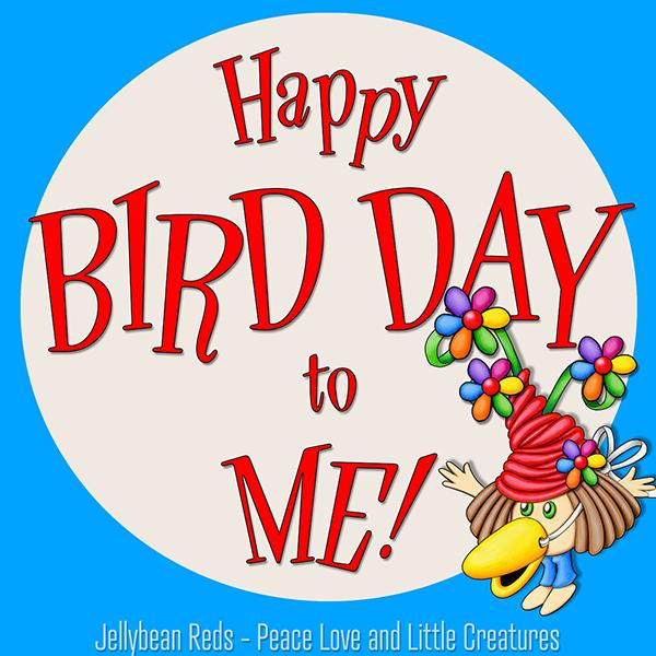 Happy Bird Day to Me - Girl with Bird Beak Mask