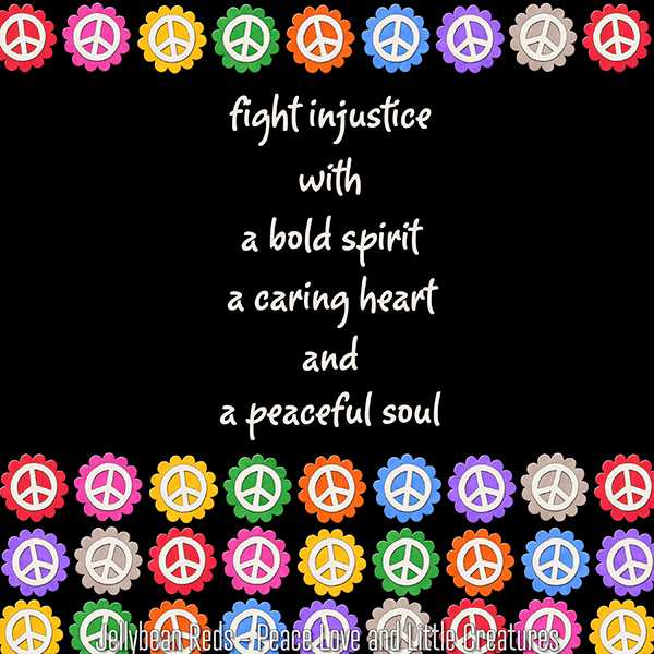 Fight Injustice with a Bold Spirit, a Caring Heart and a Peaceful Soul
