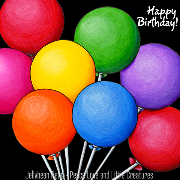 Birthday Bear's Rainbow Balloons - Happy Birthday!