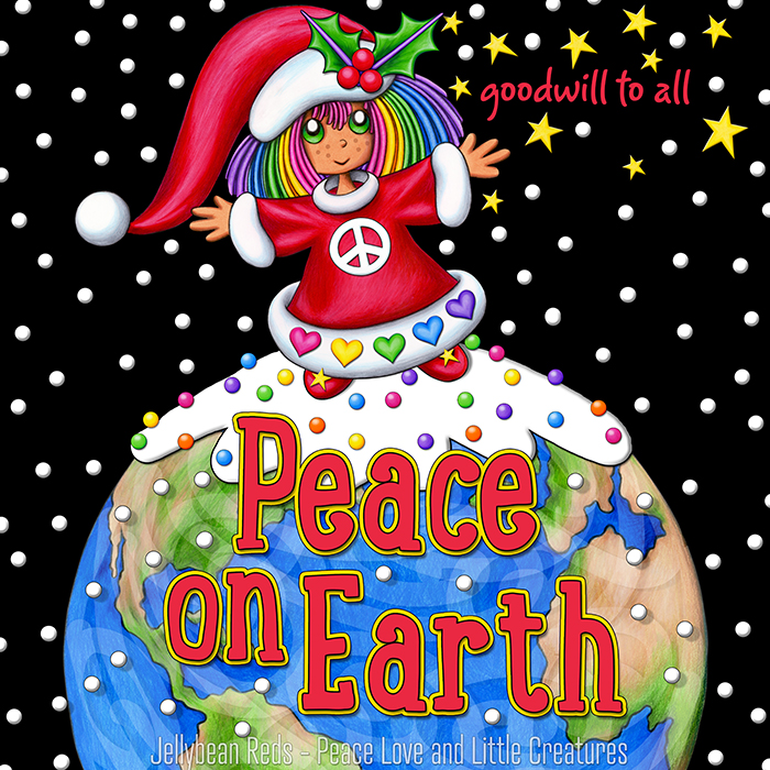 Santa Girl - Peace on Earth - Goodwill to All