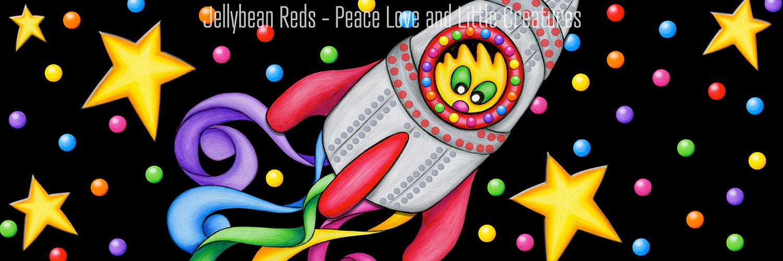Jelly Shoebox Scene: Rocket with Rainbow Ribbons