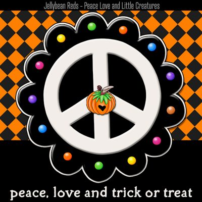 Pumpkin-Spiced Peace Signs – Peace, Love and Trick or Treat