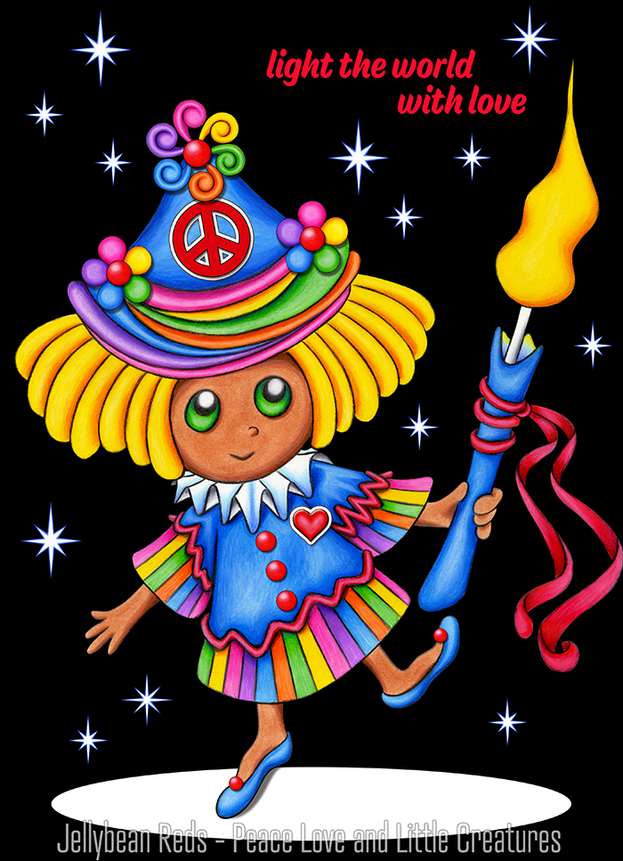 Girl Dancing with Candle in the Spotlight