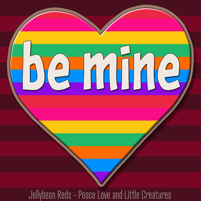 Rainbow-Striped Heart
