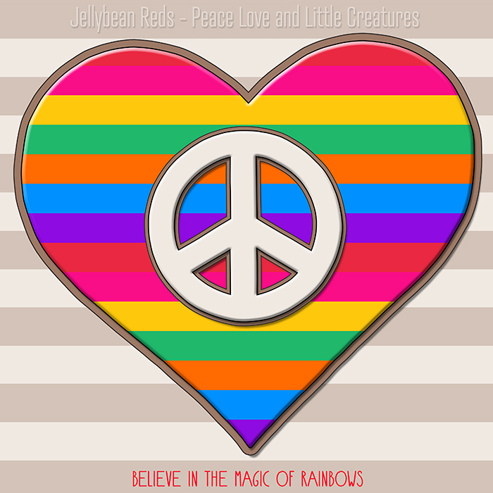 Bright Bard Design - Rainbow-Striped Heart