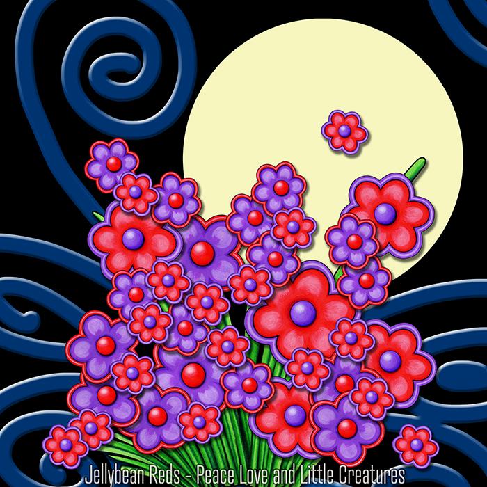 Hug Me Flowers with Spotlight Moon