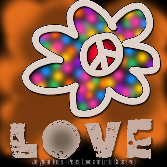 Dark Bard Design - Rainbow Peace Flower