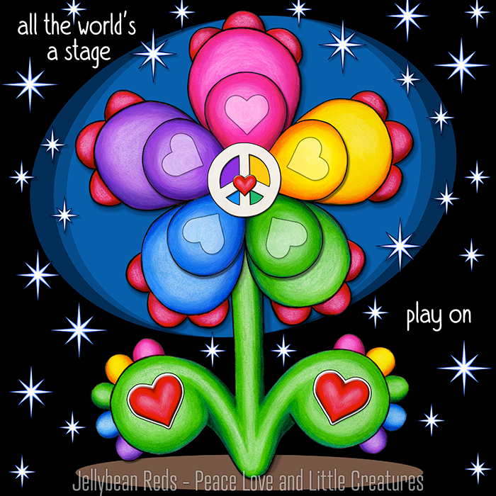 Stage Flower with Magic Stars - All the World's a Stage…Play on