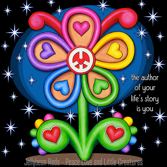 Stage Flower with Magic Stars - The Author of Your Life's Story is You